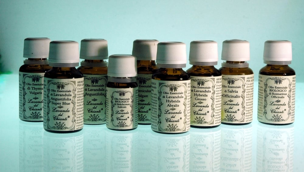 Pure, integral, natural and organic essential oils produced on the Casalvento estate