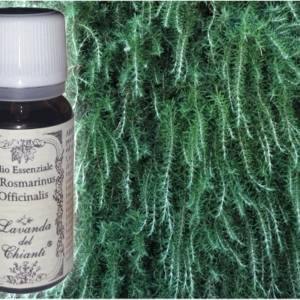 Flacone in vetro farmaceutico di puro olio essenziale di Rosmarino