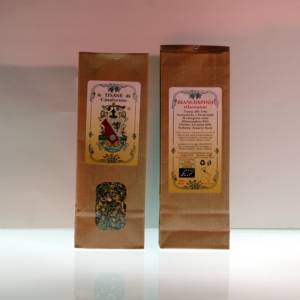 50g kraft bag with inspection window of herbal tea